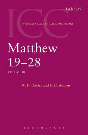 Matthew 19-28 : International Critical Commentary