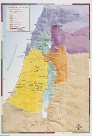 Palestine Map During Jesus Time