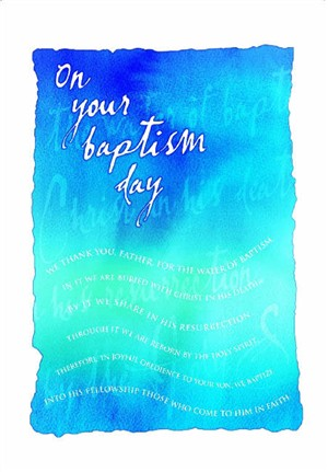 Baptism Card Adult - Pack of 10