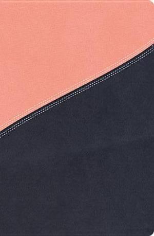 NKJV MacArthur Study Bible: Salmon/Dusk Blue, Imitation Leather