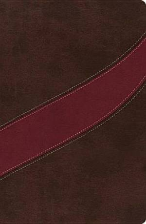 NASB MacArthur Study Bible: Cranberry/Earth Brown, Thumb Indexed, Imitation Leather
