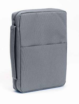 Essential Solid Bible Cover Extra Large Grey
