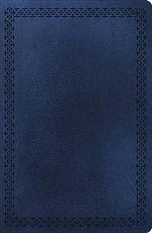 NKJV Large Print Ultraslim Reference Bible Large Print, Navy, Center Column