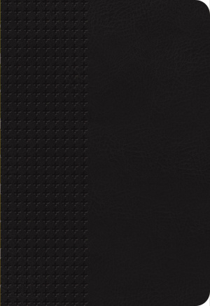 NKJV Personal Size Giant Print End-Of-Verse Reference Bible, Black Leathersoft