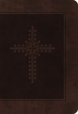 KJV Personal Size Giant Print End-Of-Verse Reference Bible, Indexed Chocolate Leathersoft