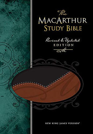 NKJV MacArthur Study Bible: Black & Terracotta,  LeatherSoft