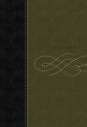 KJV Study Bible: Black & Khaki Green,  LeatherSoft