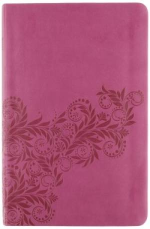 NKJV, UltraSlim Reference Bible, Imitation Leather, Dark Pink, Center column