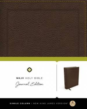 NKJV, Holy Bible, Journal Edition, Bonded Leather, Brown, Red Letter Edition
