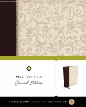 NKJV, Holy Bible, Journal Edition, Imitation Leather, Brown/Cream, Red Letter Edition