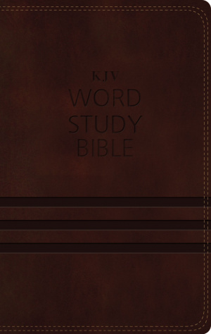 KJV, Word Study Bible, Imitation Leather, Brown, Indexed, Red Letter Edition