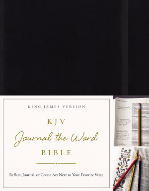 KJV, Journal the Word Bible, Hardcover, Black, Red Letter Edition