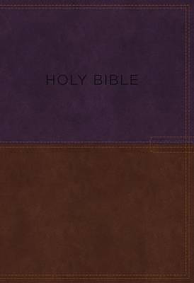 KJV, Know the Word Study Bible, Imitation Leather, Purple/Brown, Indexed, Red Letter Edition