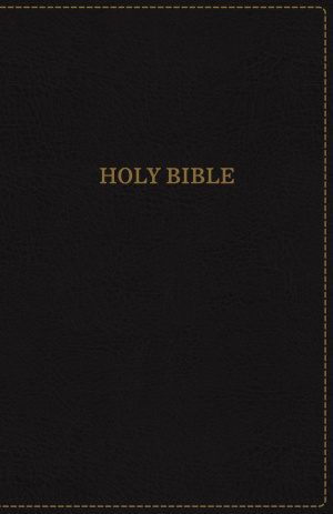 KJV, Thinline Bible, Compact, Imitation Leather, Black, Red Letter Edition