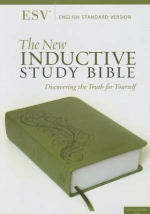 ESV New Inductive Study Bible Green Imitation Leather