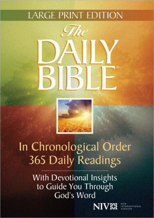 NIV Daily Bible Large Print Hardback