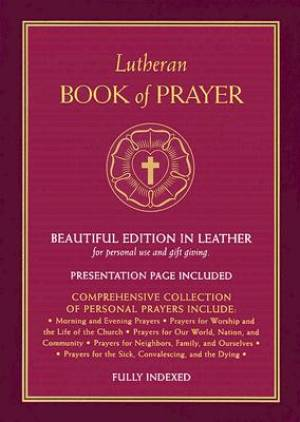 Lutheran Book Of Prayer   Burgundy Genuine Leather