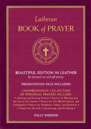 Lutheran Book Of Prayer   Burgundy Bonded Leather