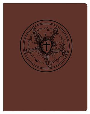 Lutheran Study Bible, Luther's Rose, Brown/Burgundy