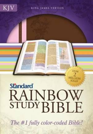 KJV Rainbow Study Bible Duotone Imitation Leather Brown