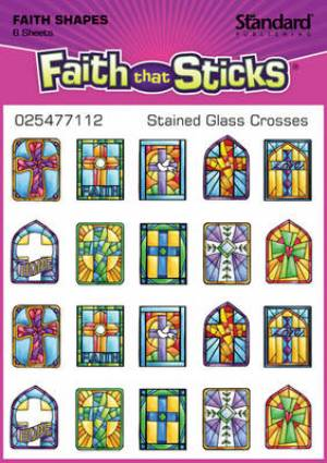 Stickers Stained Glass Crosses