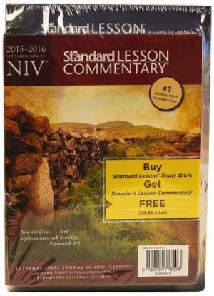 NIV� Standard Lesson Study Bible Blue/Yellow DuoTone w/ Commentary