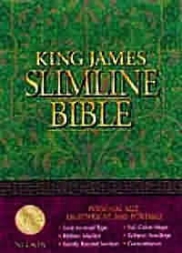 KJV Slimline Bible: Black, Bonded Leather