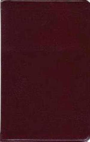 Kjv Ultraslim Bible, Bonded Leather Burgundy Indexed