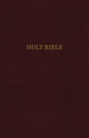 KJV, Reference Bible, Giant Print, Bonded Leather, Burgundy, Indexed, Red Letter Edition