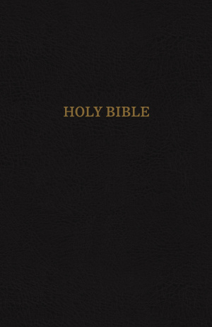 KJV, Thinline Reference Bible, Bonded Leather, Black, Red Letter Edition
