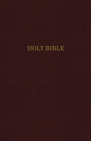 KJV, Thinline Reference Bible, Bonded Leather, Burgundy, Indexed, Red Letter Edition