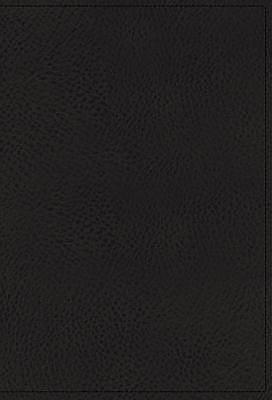 NKJV, Single-Column Reference Bible, Premium Goatskin Leather, Black, Premier Collection, Comfort Print