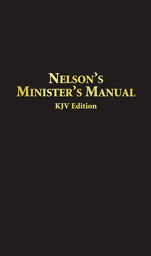 Nelsons Ministers Manual KJV Bonded Leather