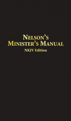 Nelsons Ministers Manual NKJV Black Leather