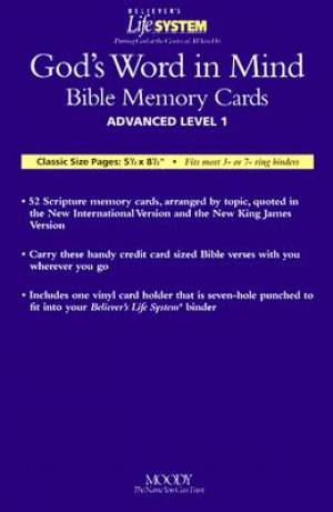 Bls Gods Word In Mind Bible Memory Cards-Advanced Level 1