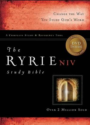 NIV Ryrie Study Bible Bonded Leather Green- Red Letter I, Th