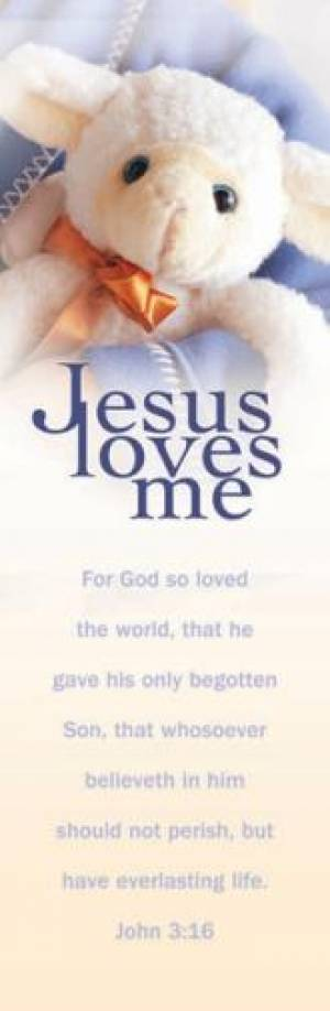 Jesus Loves Me - John 3:16 KJB Bookmark (Pack of 25)
