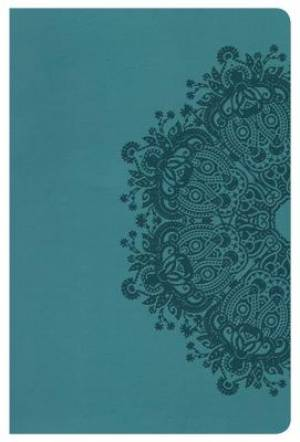 Hcsb Ultrathin Reference Bible, Teal Leathertouch, Indexed
