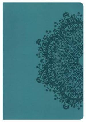NKJV Giant Print Reference Bible, Teal LeatherTouch, Indexe