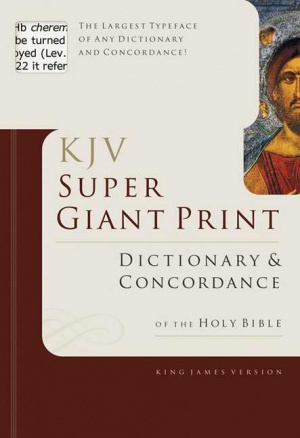 Super Giant Print Dictionary and Concordance