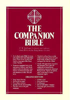 KJV Companion Bible : Black, Genuine Leather
