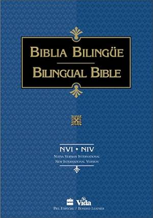 NVI/NIV Bilingual Bible: Black, Imitation Leather, Thumb Index