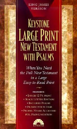 KJV Large Print New Testament With Psalms Black Imitation Leather