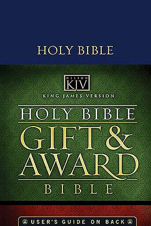 KJV Gift and Award Bible: Blue, Leatherflex