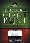 KJV  Personal Size Giant Print Bible: Black