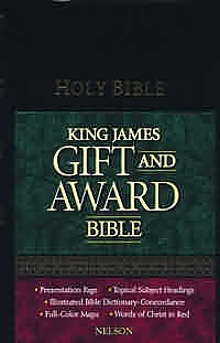 KJV Gift and Award Bible: Black, Leatherflex