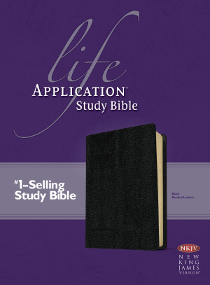 NKJV Life Application Study Bible: Black, Bonded Leather