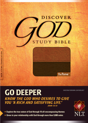 NLT Discover God Study Bible: Chestnut/Brown, LeatherLike