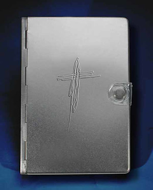 NLT 'Silver Cross' Bible: Silver, Metal