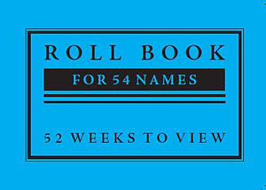 Sunday School Roll Book 54 Names